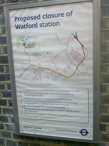 Proposed closure of Watford Station. by LoopZilla