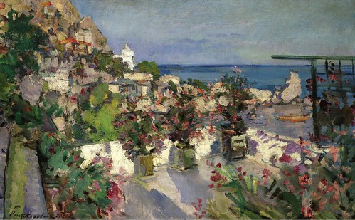 Konstantin Korovin - View from the Terrace, Gurzuf [1912] by Gandalf's Gallery