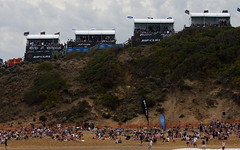 The crowds enjoyed sunny conditions for the Final
