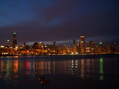 Chicago  Skyline at night 2012