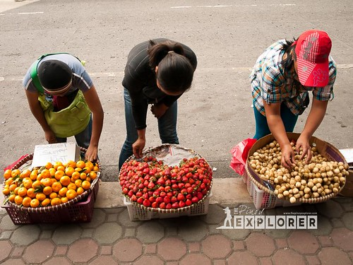 Three fruit vendors