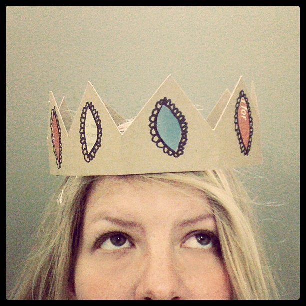 Today I made an #upcycle paper crown  for a coworker's birthday.