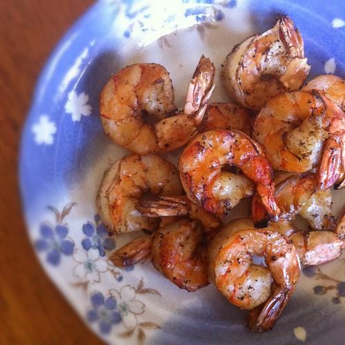 Shrimp on the barbi courtesy of @jameswan
