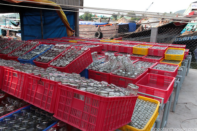 Bottles awaiting their fish sauce filling
