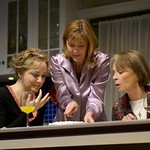 Geneva Carr, Donna Bullock and Maureen Anderman in Huntington Theatre Company's Rabbit Hole at the Boston University Theatre. Part of the 2006-2007 season. Photo: Eric Antoniou.