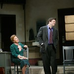 Angela Thornton as Edna and Nathan Lane as Butley in the Huntington Theatre Company's production of Simon Gray's