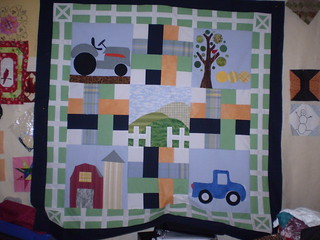 Quilt top for baby boy young