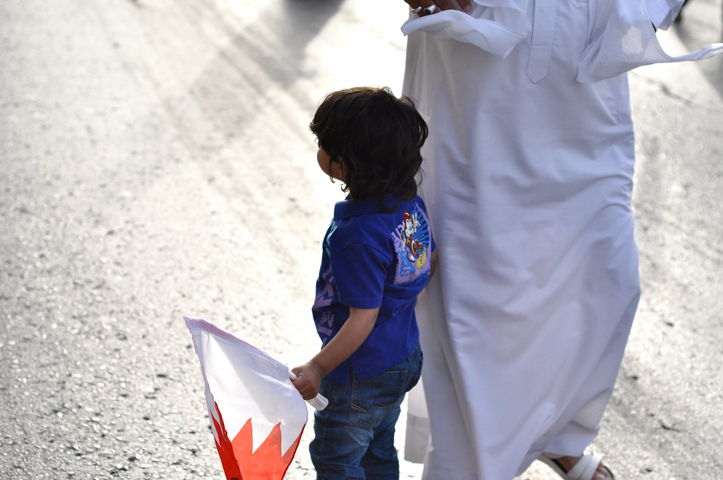 child protesting bahrain