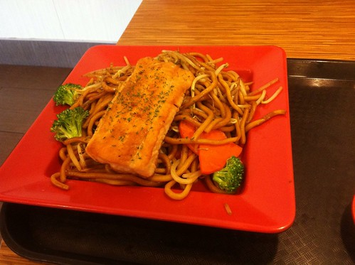 Salmon on Noodles by raise my voice
