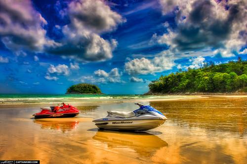 Wave Runner Jet Ski at Kata Beach Phuket Thailand