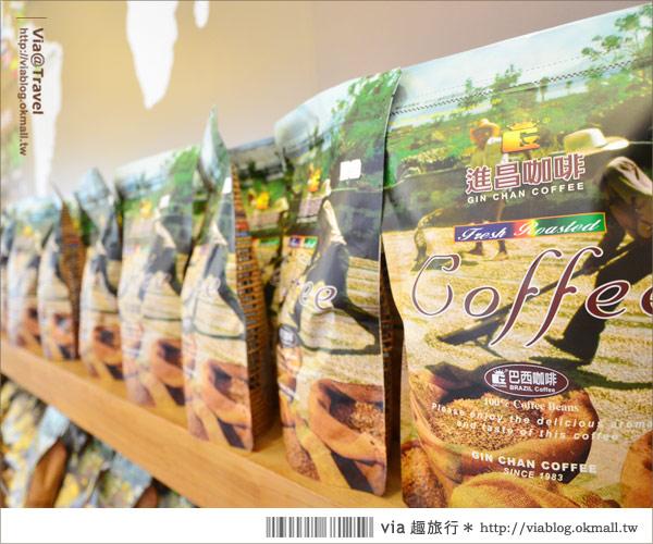 【彰化大村】進昌咖啡烘焙館~田園中的黃色歐式城堡!11