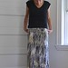 DIY maxi skirt with folded waist