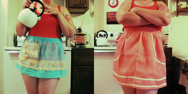 garage sale aprons