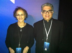 Lifescript Managing Editor Vani Rangachar and Deepak Chopra, M.D.