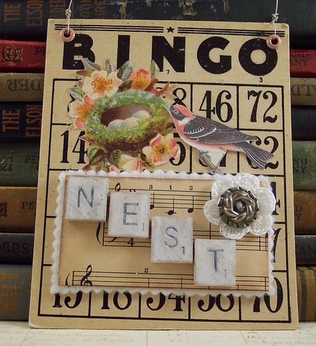 Bingo Bird Nest Collage