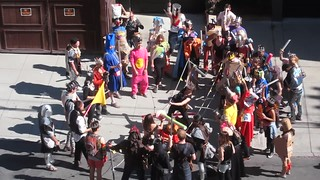 Lost Bay to Breakers Dungeons and Dragons Contingent Stages Fake Swordfight in Front of My House