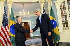 Secretary Kerry Meets With Brazilian Foreign Minister Patriota