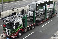 Scania P420 6x2 Car Transporter - AY12 AKU - Iona Louise - Eddie Stobart - M1 J10 Luton - Steven Gray - IMG_0581