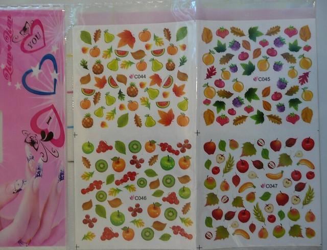 water decals fruit