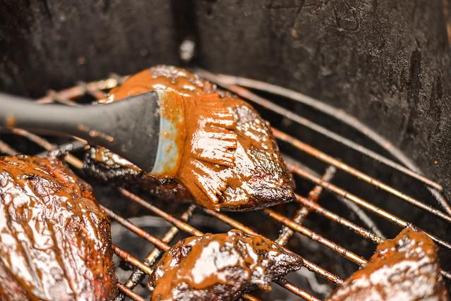 Smoked Char Siu Pork Shoulder Steaks