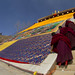 8031 Unfurling of the Thangka--Zhouni monastery , Gansu Province , China