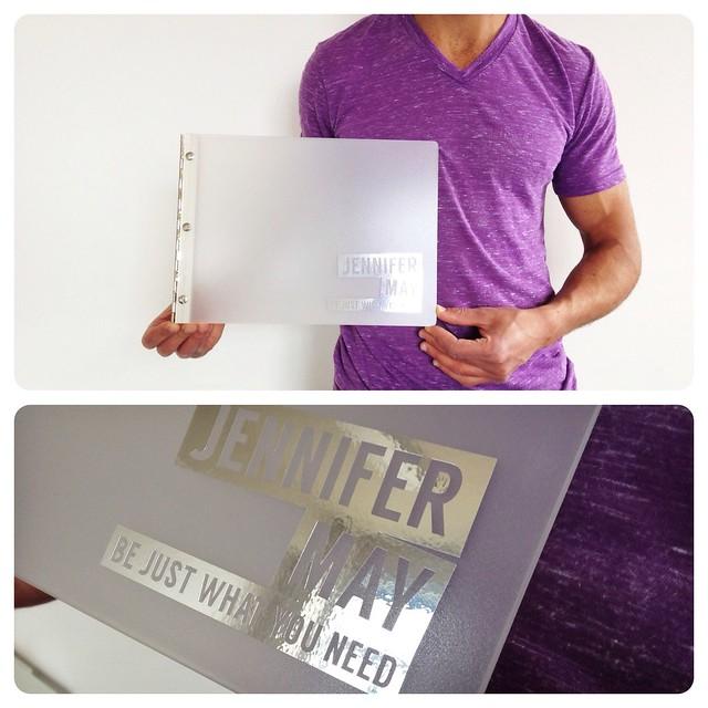 Custom Fashion Design Portfolio Book With Silver Vinyl