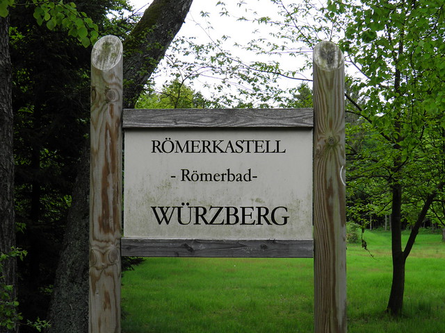 Limes Kastellbad Wurzberg (ORL section 10 Neckar-Odenwald )