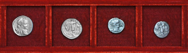 RRC 452 CAESAR LII Julius Caesar, Ahala collection, coins of the Roman Republic