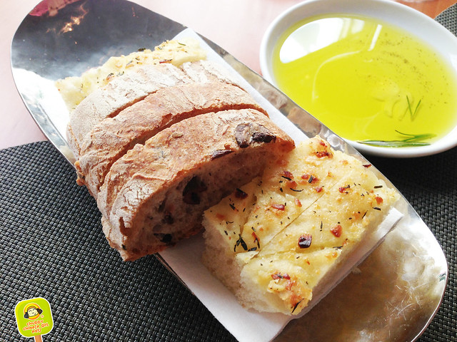 boulud sud - bread selection and olive oil