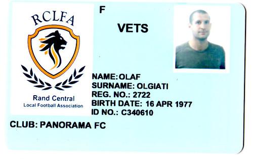 Footbal card RCLFA (Vets)