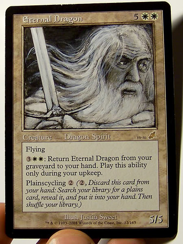 Eternal Dragon Magic the Gathering altered art mtg card art magic the gathering artwork bigup Gandalf Lord of the Rings art Hobbit Art Gandalf Wizard art