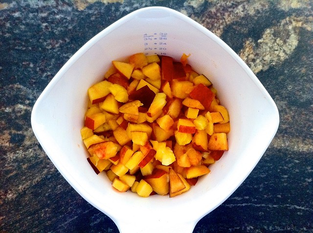 2 Cups Diced Fresh Peaches