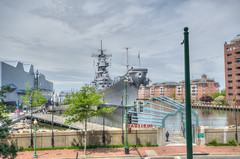 Nauticus - as viewed from the parking ramp (HDR)