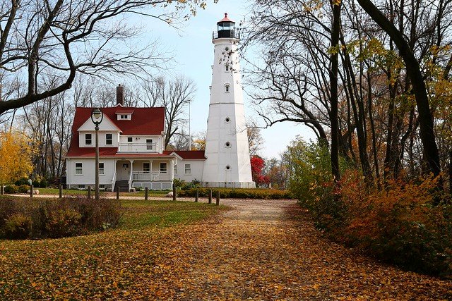 North Point Lighthouse in Autumn