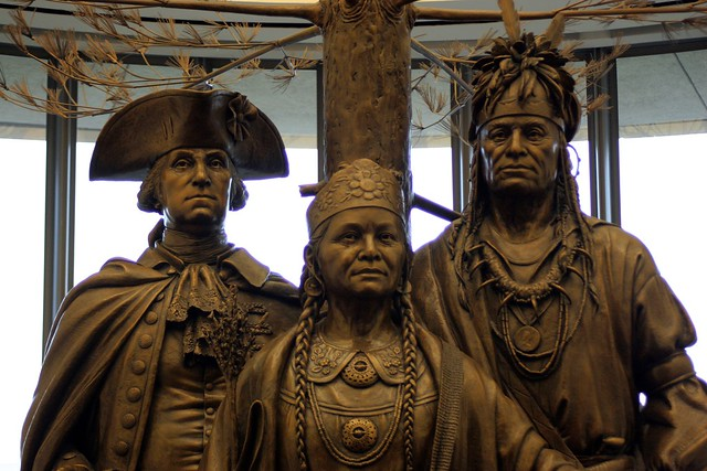 Statues in American Indian museum