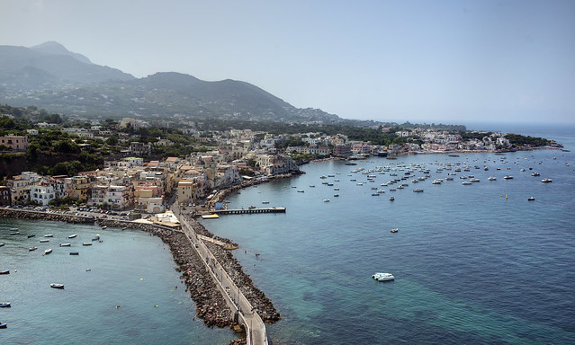 View from the Castello Aragonese to Ischia Ponrw
