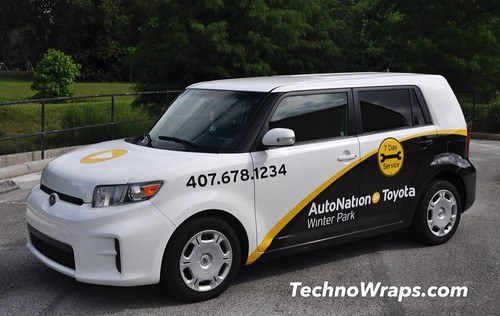 Orlando scion xb car wrap