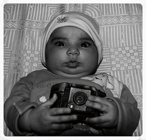 3 Month Old Nerjis Asif Shakir Inherited The Camera As Her Birthright by firoze shakir photographerno1