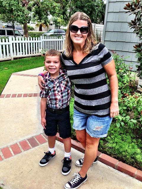 First Day of Third Grade for my son.