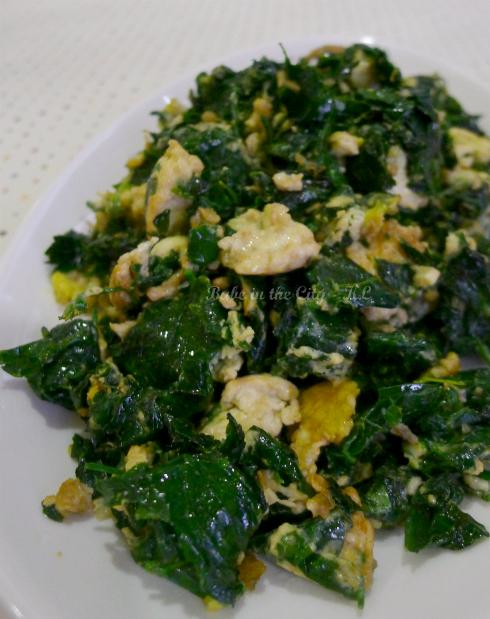 Stir Fried Manicai with Egg
