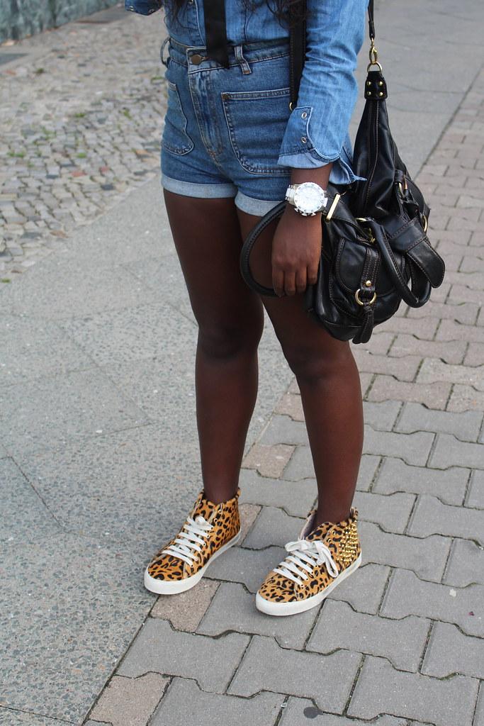 lisforlois outfit double denim beanie