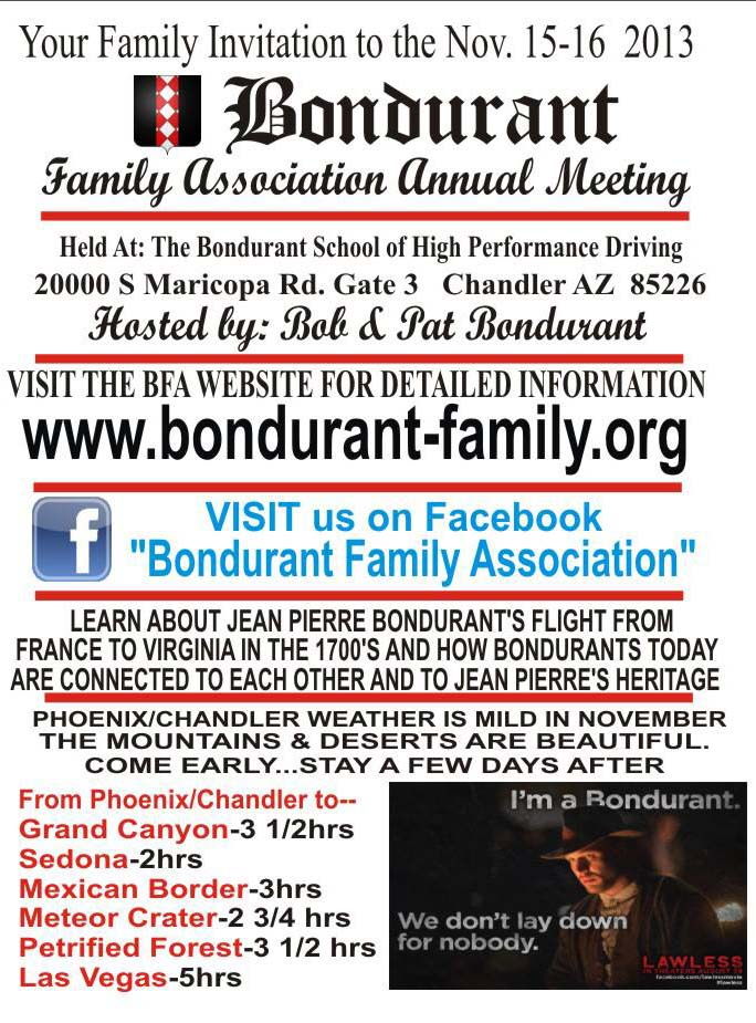 Bondurant Family Association by Ed Bonurant