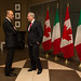 Chatting with Italian PM Enrico Letta in Vaughan