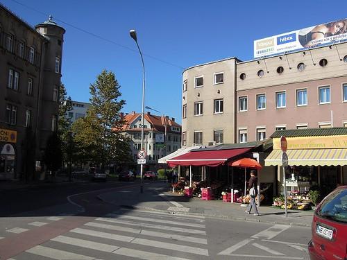 スロベニアのマルボル市内