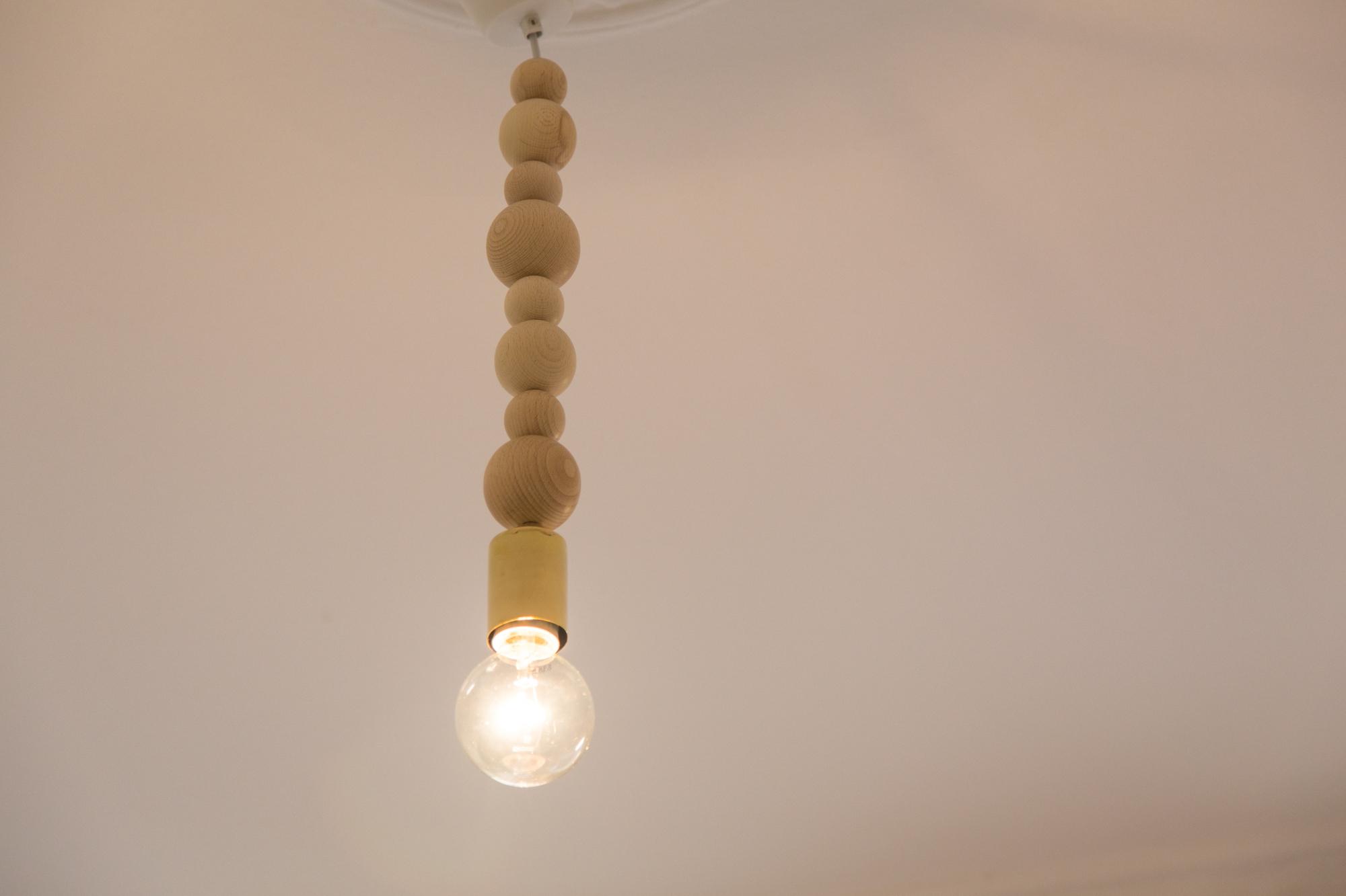 DIY Wooden Bead Lamp