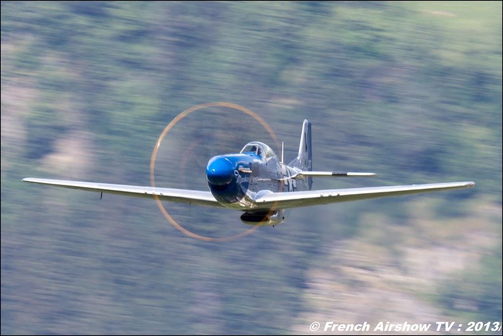 P-51 Mustang F.AKARY,Fete de l'air,Courchevel Saut à Ski 2013