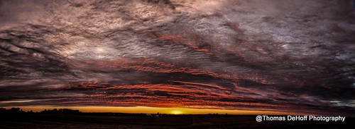 sunset red panorama colorful sony iowa a700