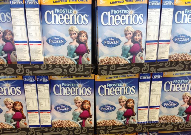 Limited Time Only Disney's Frozen Frosted Cheerios