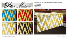 {Petite Maison} - Monte table runners