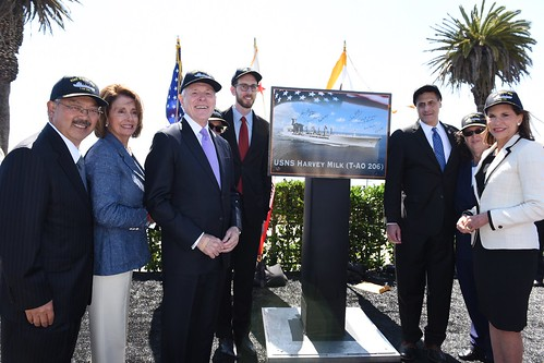 Congresswoman Pelosi joins USNS Harvey Milk Naming Ceremony